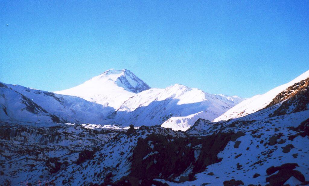 El tramo final del Tupungato, y su cumbre a la vista. Foto: Martín Lucero.