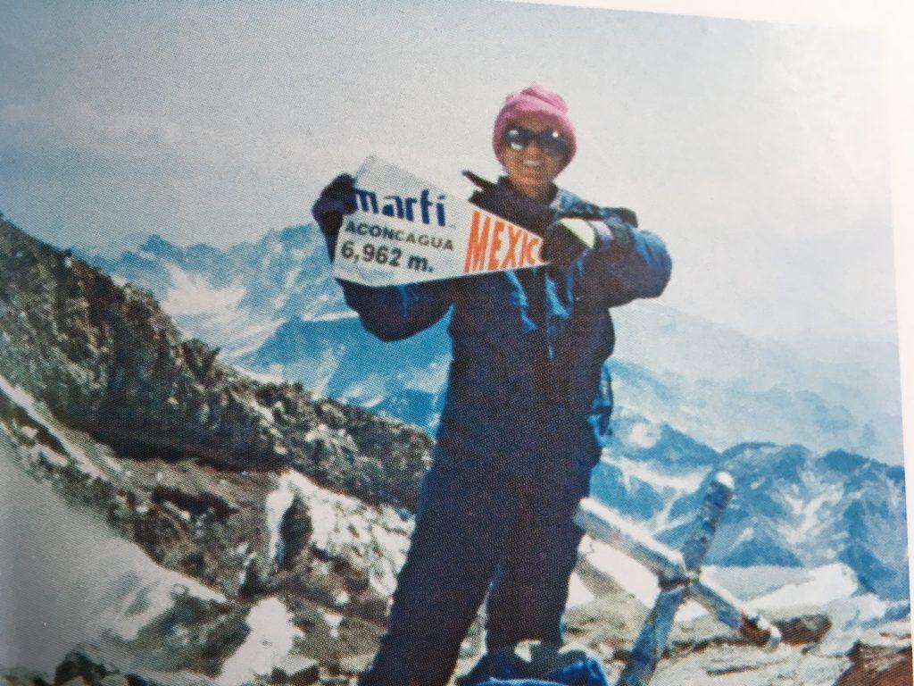 Karla Wheelock en el Aconcagua.