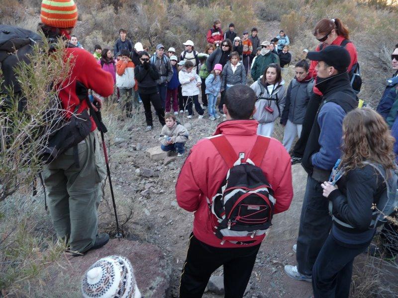 El principal objetivo de las salidas: acercar la familia a la montaña.