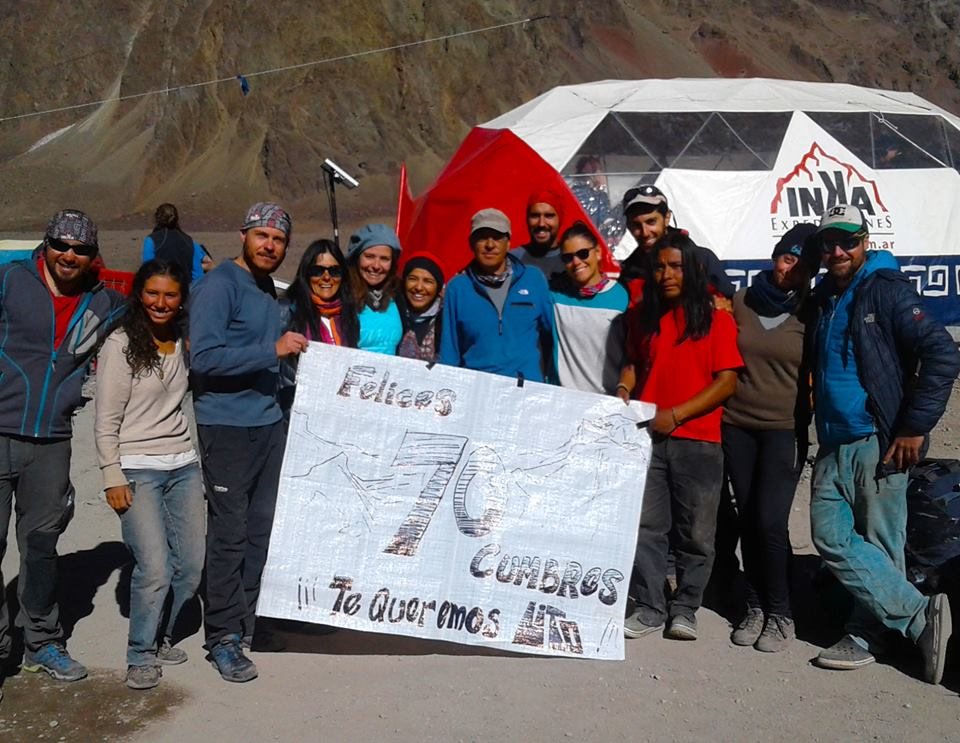 El reconocimiento de sus compañeros de trabajo en Inka Expediciones. Hay Lito para rato.